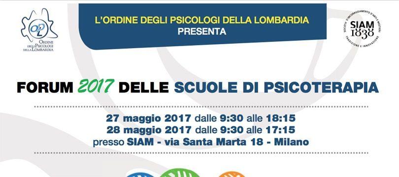 Forum 2017 delle Scuole di Psicoterapia - OPL Studi Cognitivi