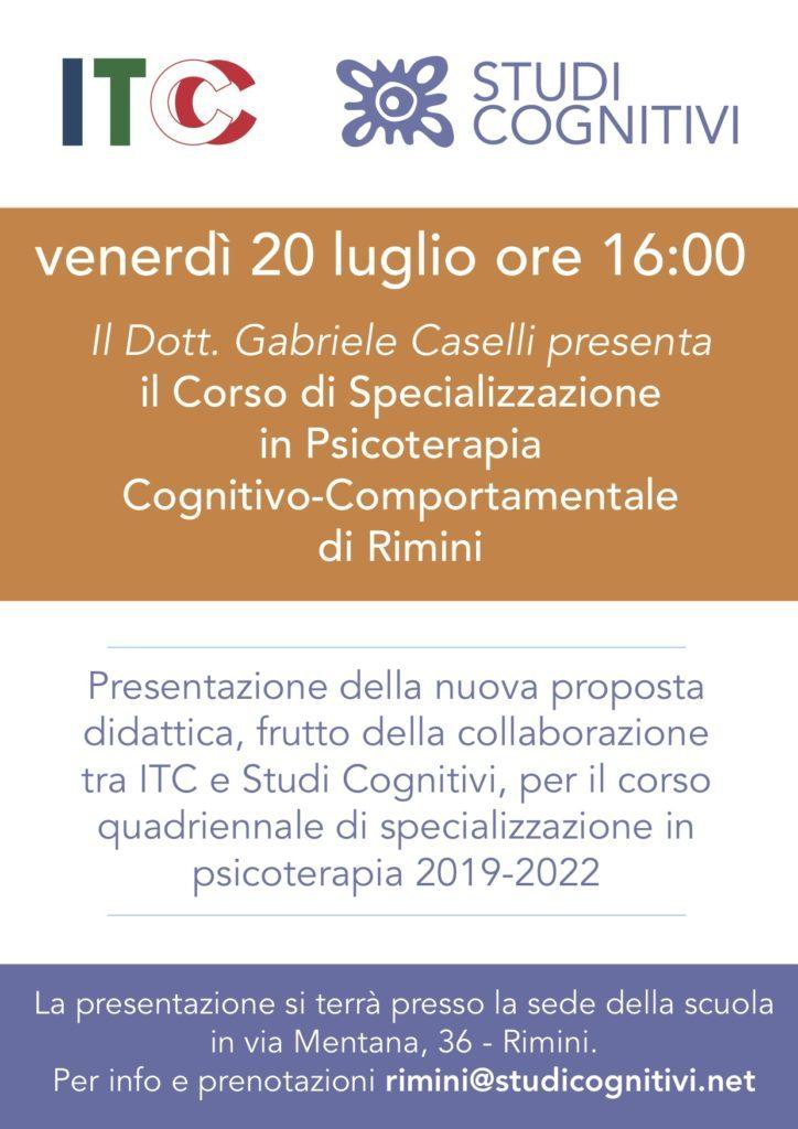 ITC Rimini - Presentazione 20 Luglio - Locandina
