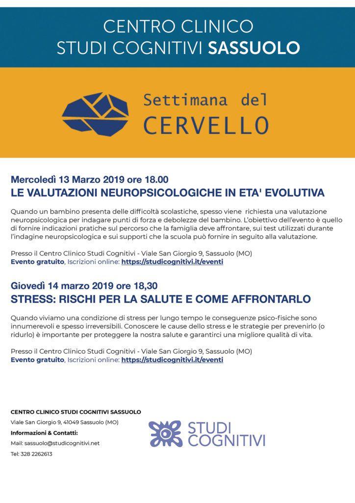 SASSUOLO - Marzo 2019 - Settimana del Cervello -