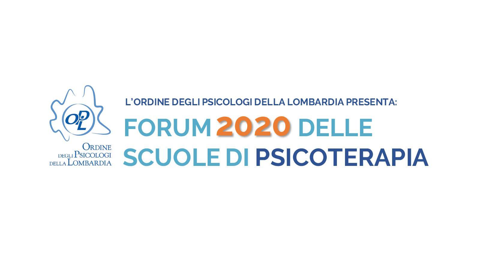 Forum 2020 Scuole di Psicoterapia - Ordine Psicologi della Lombardia OPL - Banner