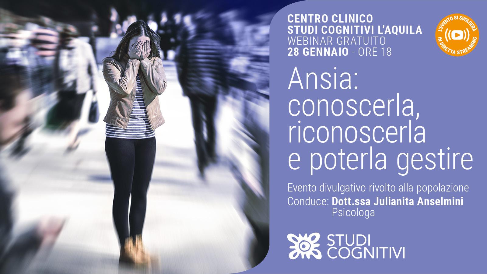 Conoscere l'Ansia - Centro Clinico Studi Cognitivi L'Aquila