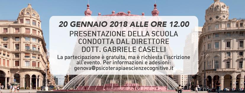 Psicoterapia e Scienze Cognitive - GENOVA - Presentazione scuola Gennaio 2018 - featured