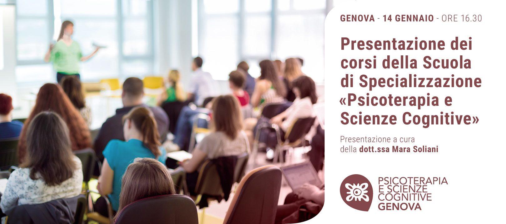 Scuola di Psicoterapia di Genova - Presentazione del 14 Gennaio 2020